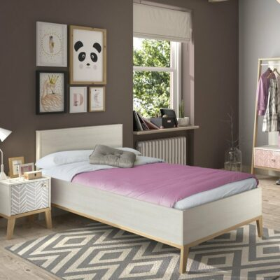 Alika Single Bed - Whitewashed Chestnut by Gami