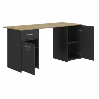 Bristol Desk - Oak/Black by Diagone