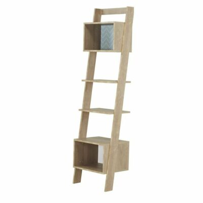 Larvik Bookcase with 2 Shelves + 2 Cubes - Blond Oak/White by Gami