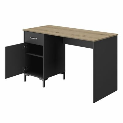 Manchester Desk - Oak/Black by Diagone
