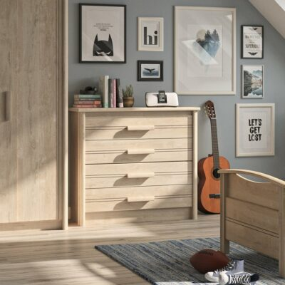 Montana 4 Drawer Chest - Blond Oak by Gami