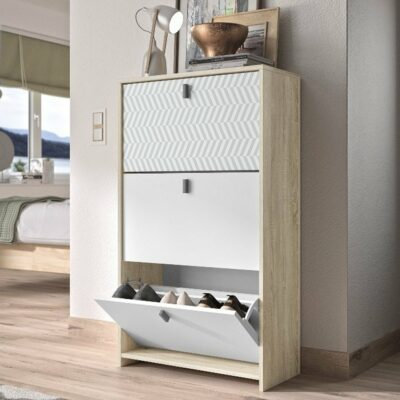 Rio Shoe Cabinet - Sonoma Oak/White by Diagone