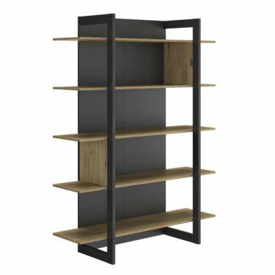 Russel Bookcase - Oak/Black by Diagone