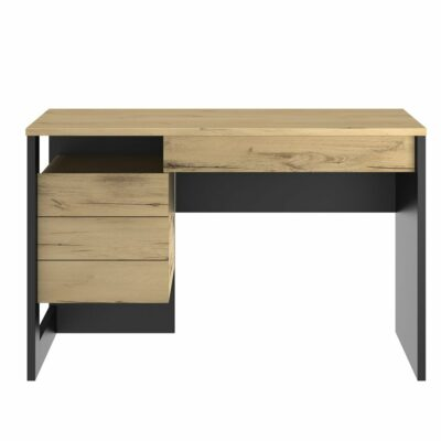 Russel Desk - Oak/Black by Diagone