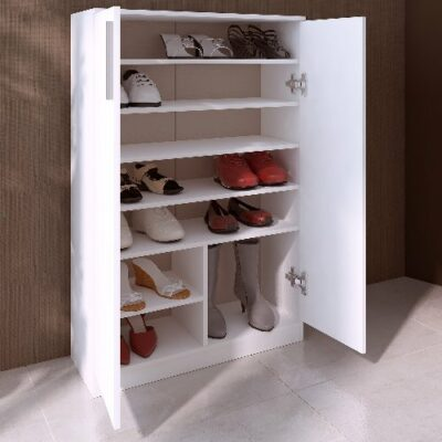 Shoe Storage Cabinet - White by Trasman