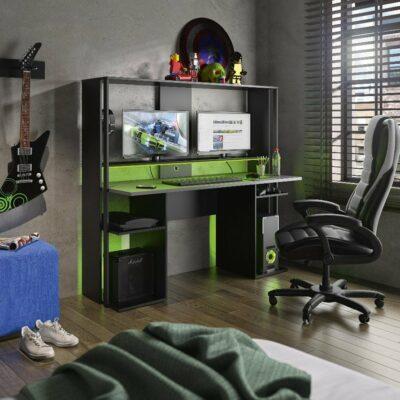 Stream Gaming Desk - Black by Diagone