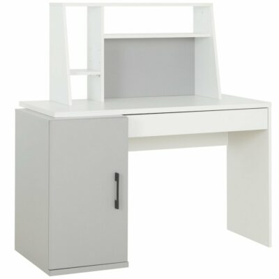Ugo Desk - Moon Grey/White by Gami