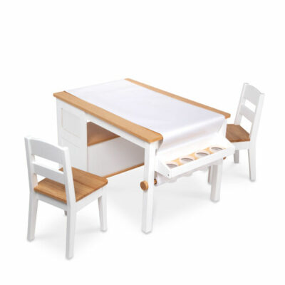Wooden Art Table & Chairs Set