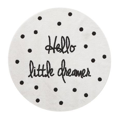 Little Dreamer Rug - White/Dark Grey by Lifetime Kidsrooms