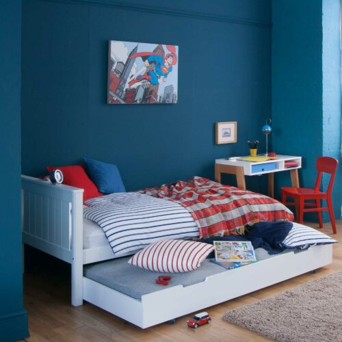 Superior Classic Single Bed, Solid Beech - White by Little Folks