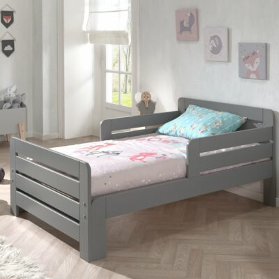 Jumper Toddler Bed with Mattress - Grey