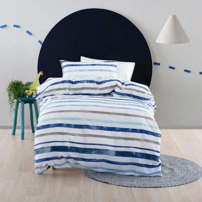 Painter Stripe Duvet Set - Ocean Blue (3/4)