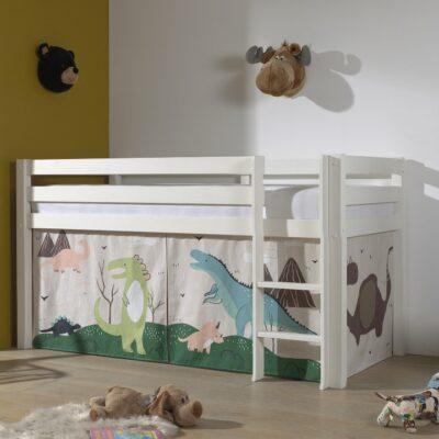 Dino Mid Sleeper Bed - White