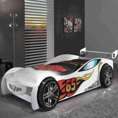 Le Mans Car Bed - White