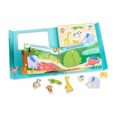 Book & Puzzle Play Set: In The Jungle