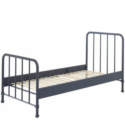 Bronx Metal Bed incl Slats - Matt Denim (Single)